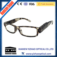 2015 high quality color change led reading glasses