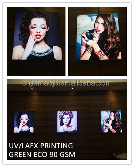 Green Eco Good quality indoor advertising UV/LATEX/ECO-SOLVENT Printing 90 gsm light box textile