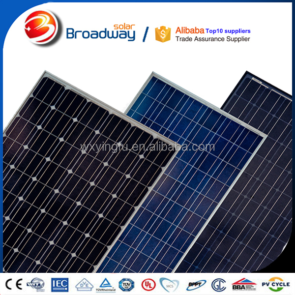 China solar panel price 250w 260w monocrystalline solar panel pv module for solar system