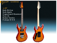 Deviser hot sale high qualtiy G7 double wave electric guitar, willow body and maple neck HSH pickups