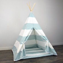 New Design White And Black Stripe Kids Play Tent Indian Teepee Children Playhouse Children Play Room Teepee for sale