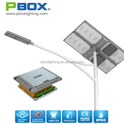 Low price outdoor ip65 high power solar street led light 260w solar panel 80w led