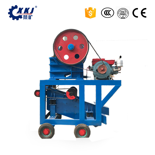 Small Portable 250 x 400 Stone Jaw Crusher with a Small Vibrating Screen