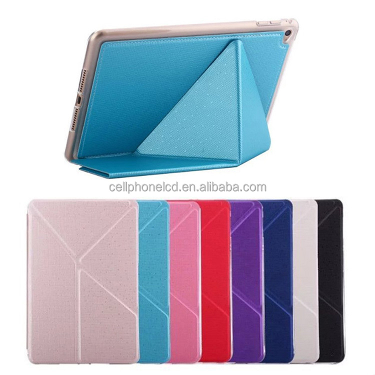 Tablet Lightweight Soft TPU Folio Stand Flip Cover with Auto Sleep/Wake Function Smart Case Skin for Apple iPad Air Mini 1/2/3/4