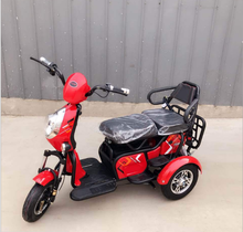 2017 China Leisure passenger adult open used three wheel 48V 500W electric tricycle