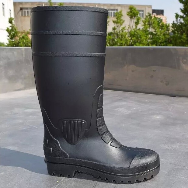 hot selling steel toe insert men black mining safety boots
