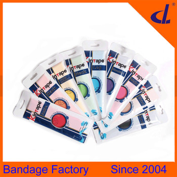 oraginal manufacturer cheap sports waterproof multicolor kinesiology tape leg