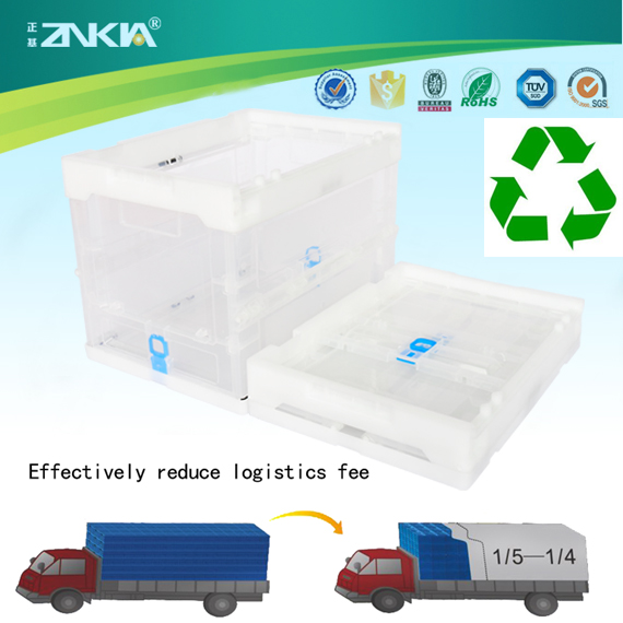 ZJXS362627W Plastic Foldable Stackable Small Strong Turnover Box/Crate/Container
