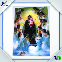 2015 Virgin Mary 3D Picture, Colorful 3D Lenticular Printer For Sale