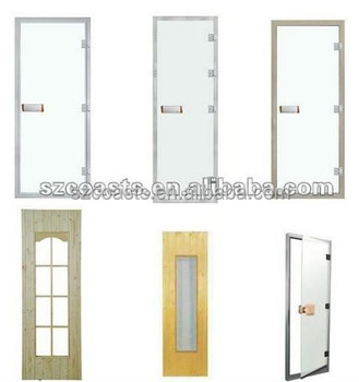Tempered glass sauna door /steam door supplier