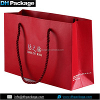Premium Red Pearled Specialty Paper gift Bags with braided Rope handles