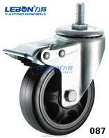 5-inch Caster With Brake & 250cc Reverse Trike & Thread Stem Caster