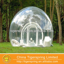 flame retardant air blown up camping inflatable tent 3m