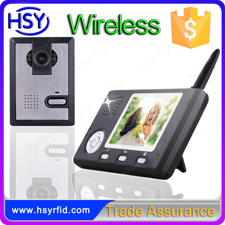 HSY-WDP2 TFT color screem commax intercom wireless video door phone with keypad