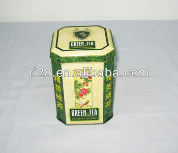 Octagonal 100g 150g green tea can