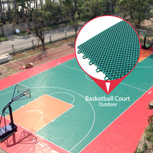 Low price waterproof 100% no used safety qualified pp plastic futsal basketball court outdoor flooring
