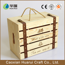 Factory Outlets Custom-made Six Wine Crates Wooden Box Packing of low price