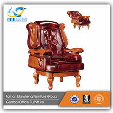 Luxury modern leather four leg office chair MA6014