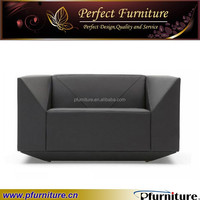 Fashion living room design new modern diamond design leather sofa PFS41006