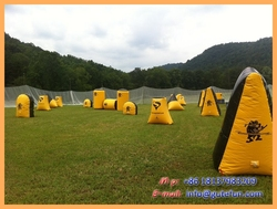 outdoor activity customized inflatable bunkers