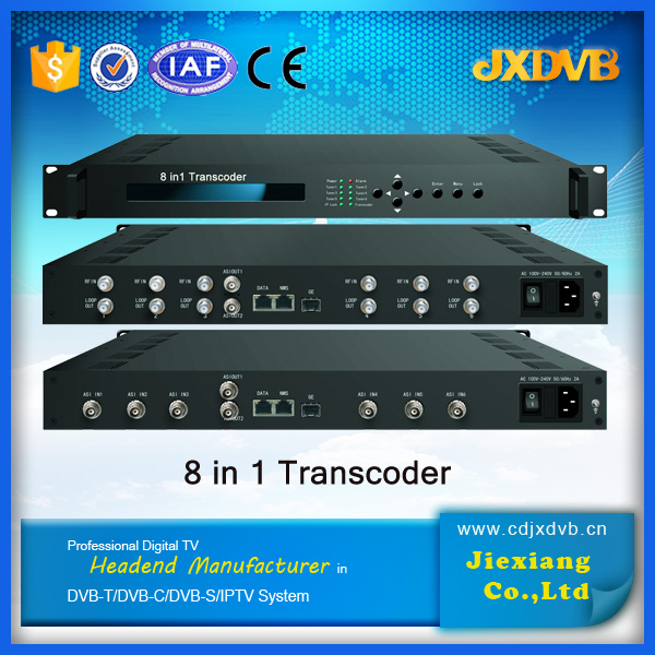 mpeg2 to h.264 and transcoder for iptv, tv broadcast