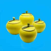 Ceramic apple shape caniste set for kitchen