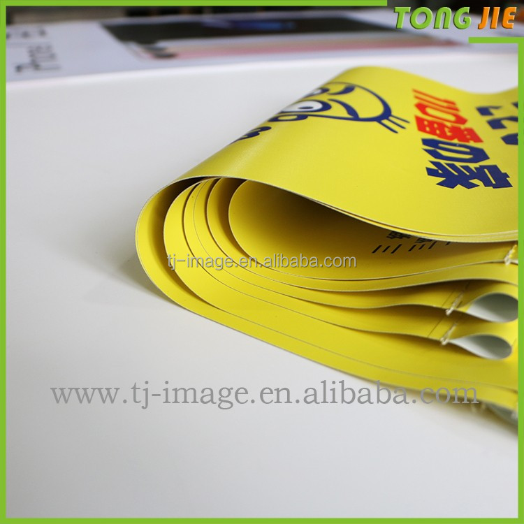 Outdoor PVC vinyl double sides printing vertical pole street banner