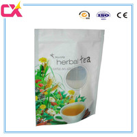 plastic custom design tea pouch with window