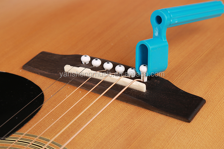 Plastic Colorful Bridge Pin Tool String Winder Acoustic Electric Guitar String Winder & Peg Puller