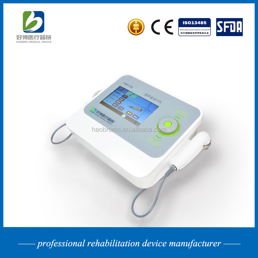 Haobro produce pain relief therapy ultrasonic device with two probes