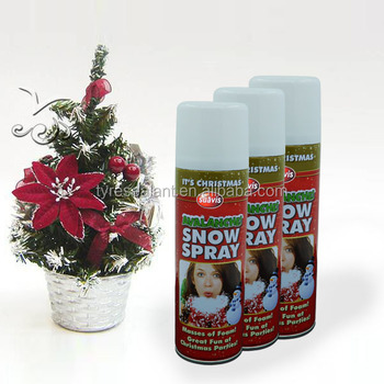 wholesale price of 250ml colorful X'mas and holiday aerosol snow spray