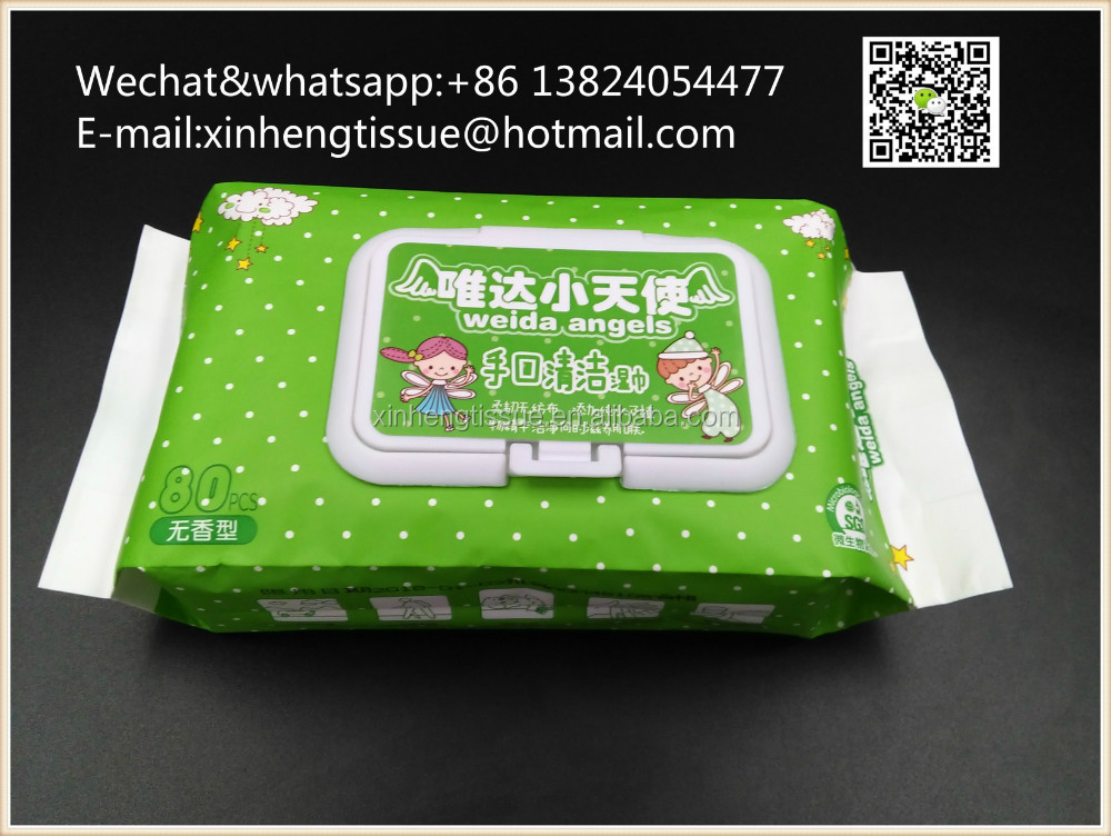 non-paraben soft baby skin care wet wipes tissue with lid