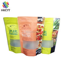 Chinese Supplier HKCYT Clear Stand up Pouch with Resealable Zipper for Snack,Candy,Sugar,Dried Food