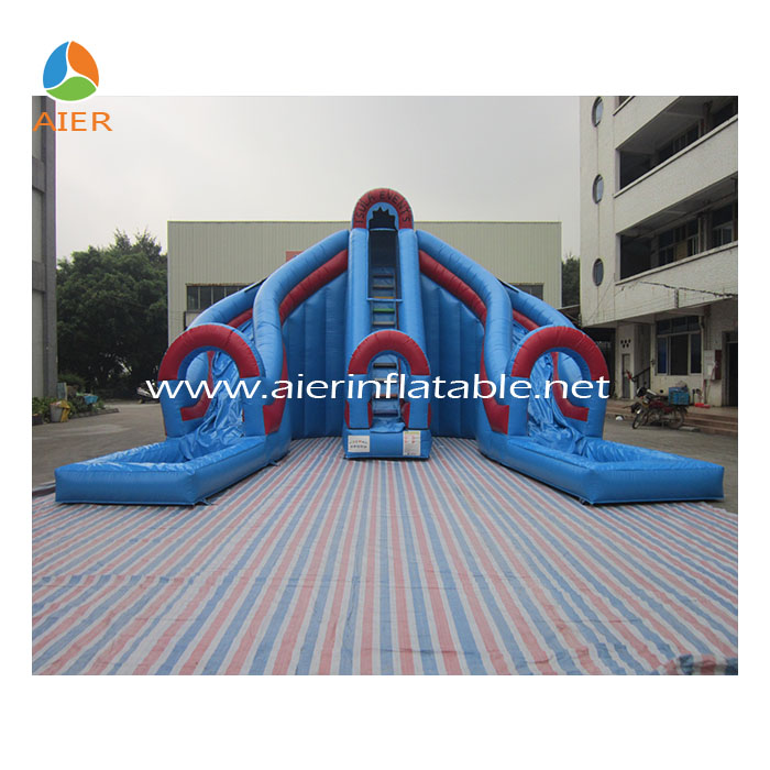 Aier 10m tarpaulin inflatable slide,bouncy slide,water slide