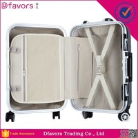 Factory price metal aluminum frame luggage abs aluminium frame luggage set hard plastic luggage case made in China