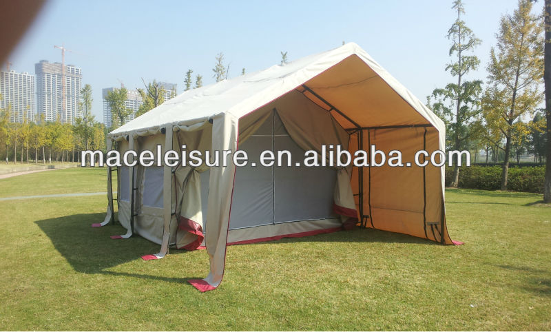 100% canvas & waterproof outdoor camping tent with vestibule / family glamping tent