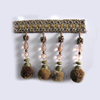 Wholesale Tassels Design Decorative Light Brown Beautiful Pompon Fringe