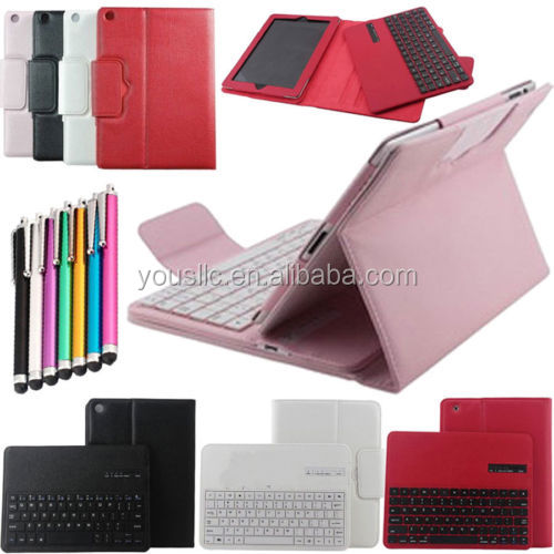 Detachable Bluetooth Keyboard Leather Case Cover For Apple iPad 5 iPad Air