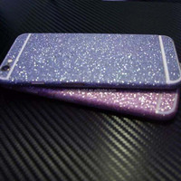 Full Body Glitter Shiny Phone Sticker Matte Screen Protector for iPhone 6