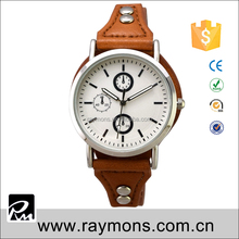 Fashion design leather pedestal for wrist quartz sport military style watch new design fashion military watch