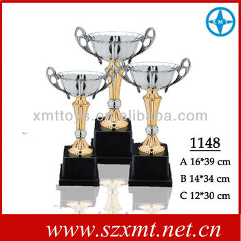 Wholesale OEM champion trophy cup metal bowl for winner