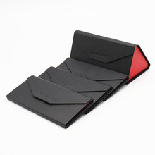 Fashion Black men, hand folding sunglasses box, wholesale high-grade leather box