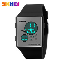skmei simple fashion popular slim interchangeable strap digital running watch
