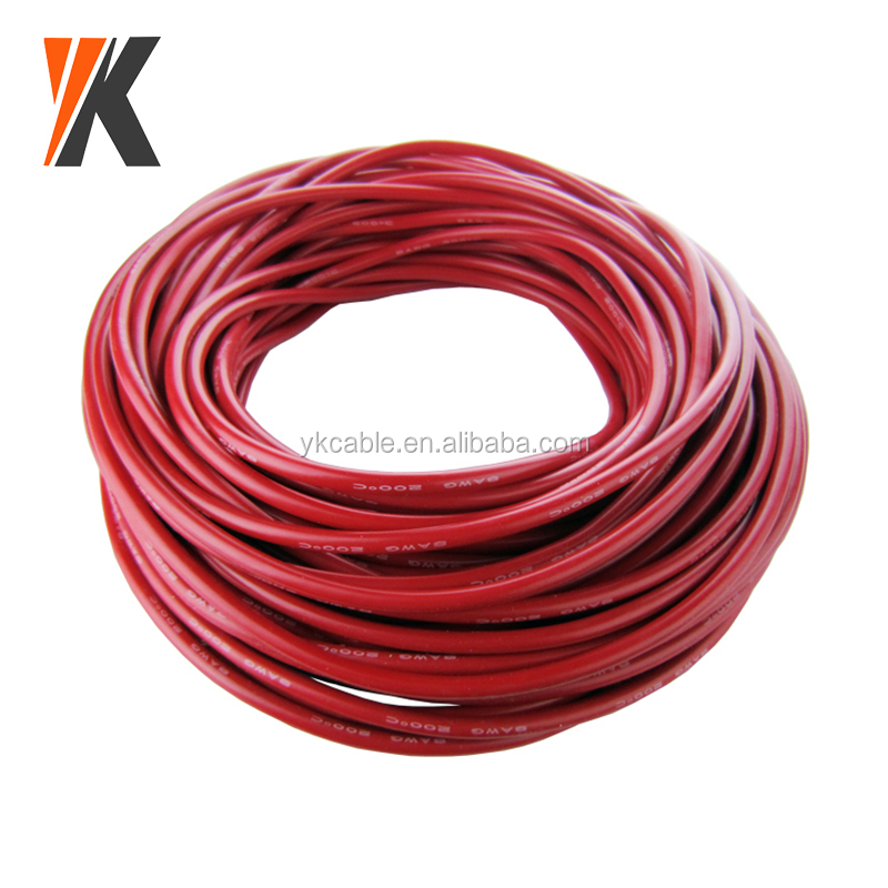 300V 24awg 14awg 12awg 10awg 8awg 6awg multi strand single core silicone wire cable