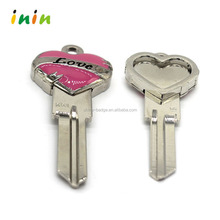 Fashion design decorative blank keys with customized logo