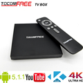 2016 Amlogic S905 Quad-core 4K H.265 Android 5.1.1 Tocomfree TV box work for worldwide