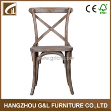 wholesale cheap antique cross back solid wood oak dinning chair/wedding chair