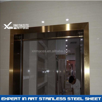 304 PVD Rose Gold Price Of Stainless Steel Door Frame