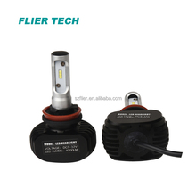 S1 LED headlight bulb H1 H3 h8 h9 h11 h4 h7 with fanless 4000LM 25W