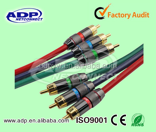 High Quality RCA Jumper Cable/Audio Cable/3 RCA To 3 RCA